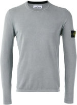 Stone Island jumper with iconic sleeve branding - men - Cotton - XL