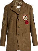 Maison Margiela Motif-appliqué felted-wool jacket