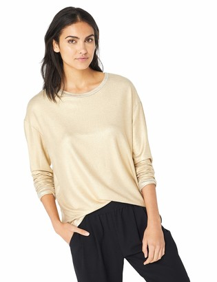 Majestic Filatures Women's French Terry Long Sleeve Boxy Crew