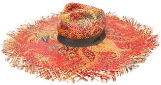 Etro Wide Brim Raffia Hat