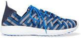 Nike Juvenate Leather-trimmed Woven Grosgrain Sneakers - Blue