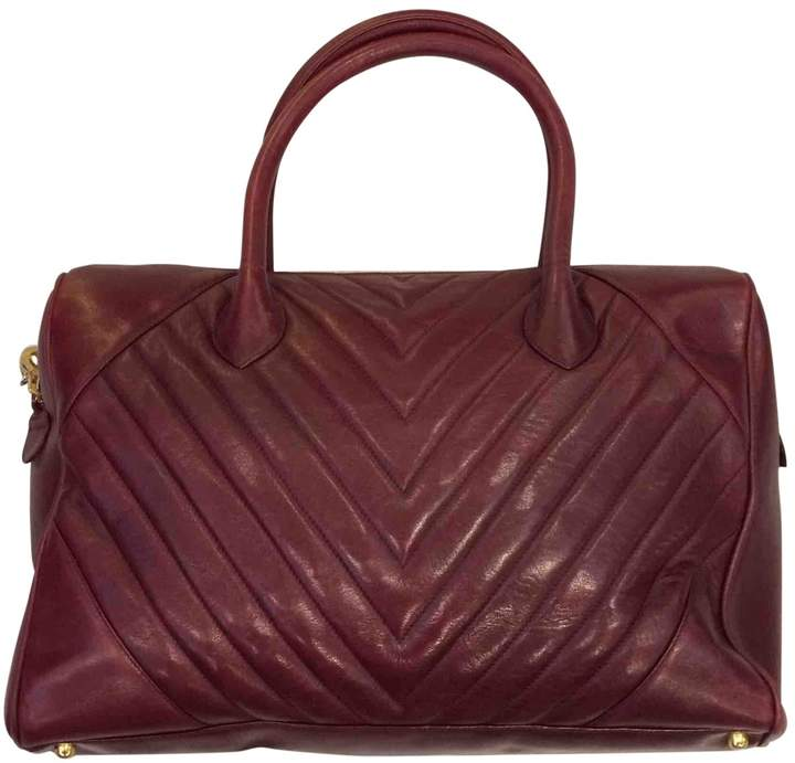 b687e80b Chanel Red Burgundy Leather Handbags - ShopStyle