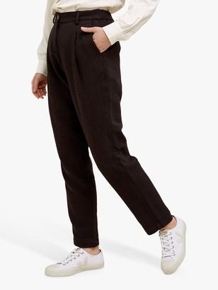 People Tree Annis Jacquard Trousers, Black