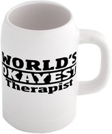 Fotomax Beer mug with World's Okayest Therapist