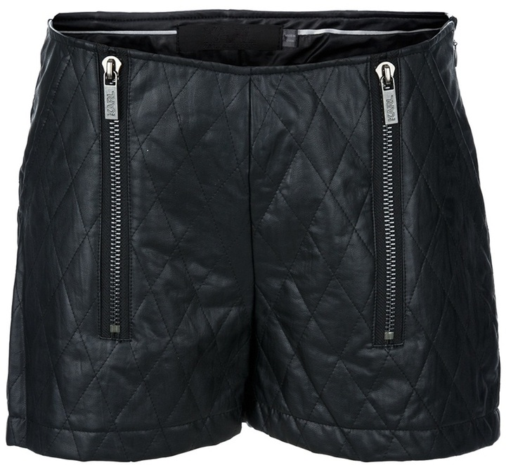 Karl Lagerfeld quilted leather shorts