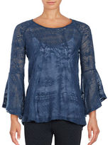 Jessica Simpson Hyne Sheer Bell Sleeve Sweater
