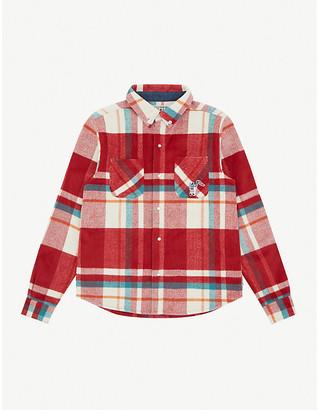 Billionaire Boys Club Checked brand-applique flannel overshirt