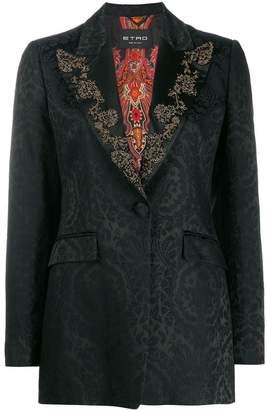 Etro brocade print embellished blazer