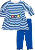 Florence Eiseman Stripe Dress w/ Solid Leggings, Size 6-24 Months