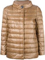 Herno high neck buttoned jacket - women - Feather Down/Polyamide/Polyester/Viscose - 42