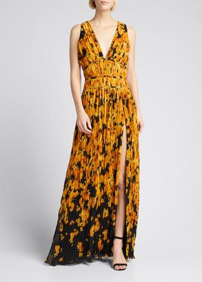 Altuzarra Pleated Floral Sleeveless Dress