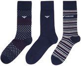 Emporio Armani 3pk Pattern Sock Set