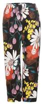 Marni Printed cotton and linen trousers