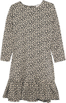 The Great The Drop ruffled floral-print cotton dress