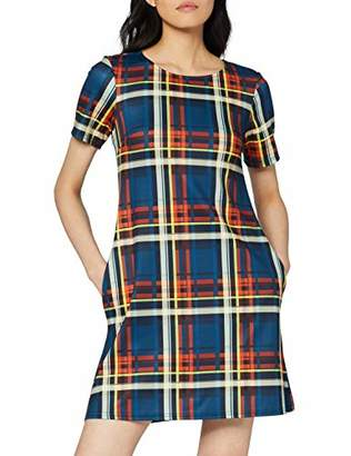 Dorothy Perkins Women's Check Seamed Fit & Flare Dress,8 (Size:8)