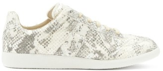 Maison Margiela Replica Snake-effect Leather Trainers - Grey