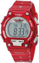 Timex Women's Ironman T5K557 Red Resin Quartz Watch with Dial
