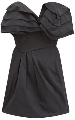 Preen by Thornton Bregazzi Agnese Ruffled Taffeta-twill Mini Dress - Black