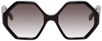 Chloé Black Oversized Octagon Sunglasses