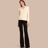 Burberry Cashmere Sweater with Frill Sleeves