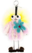 Fendi figure keyring - women - Goat Fur/Mink Fur - One Size