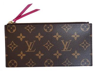 Louis Vuitton FAlicie Brown Cloth Clutch bags