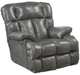 Lowndes Lay Flat Leather Power Recliner Red Barrel Studio Upholstery Color: Gray