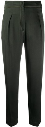 Forte Forte Contrast-Stitch Cropped Trousers