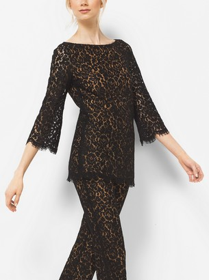 Michael Kors Collection Floral Lace Tunic