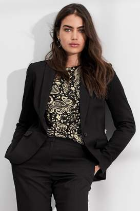 Next Womens Black Single Breasted Tailored Fit Jacket - Black