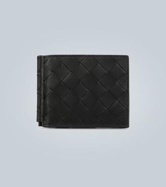 Bottega Veneta Intrecciato card wallet with money clip