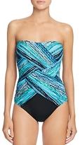 Gottex Snake Charmer Crisscross Bandeau One-Piece Swimsuit