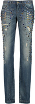 Dolce & Gabbana Embellished low-rise straight-leg jeans