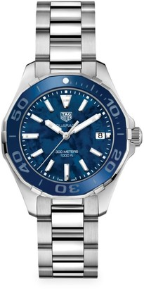 Tag Heuer Aquaracer 35MM Stainless Steel, Ceramic & Mother-of-Pearl Quartz Bracelet Watch