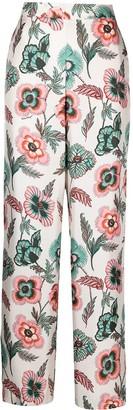 Salvatore Ferragamo Poppy-Print Silk Pyjama Trousers