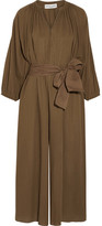 Apiece Apart Isla Cotton-crepon Jumpsuit - Army green