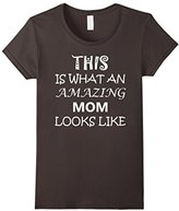 Womens Mothers Day Gift from Children & Husband Amazing Mom T-Shirt Large