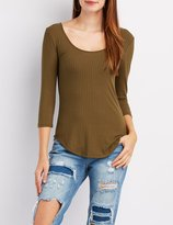 Charlotte Russe Caged-Back Tunic Top