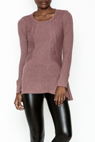 Love Mauve Lace Top