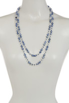 Natasha Accessories Long Beaded Necklace
