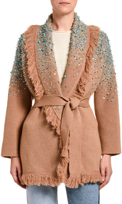 Alanui Rainy Day Embroidered Cardigan