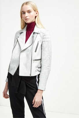 French Connection Emelisse Leather Biker Jacket