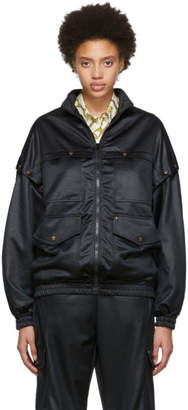 Gucci Black Convertible Bomber Jacket