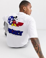 Asos Design ASOS DESIGN Disney oversized heavyweight t-shirt with chest embroidery and large back print-White