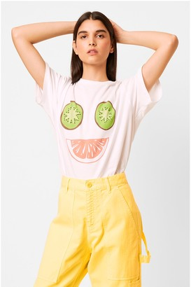 French Connection Kiwi Smiley Oversized T-Shirt