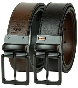 Levi's Men's 1 9/16-Inch Brown To Black Reversible Belt