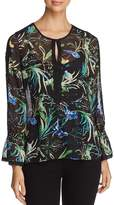 Le Gali Carrie Sheer Floral-Print Blouse - 100% Exclusive