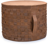 UGG Woven Leather Pouf