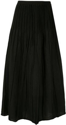 AKIRA NAKA crinkle pleat skirt
