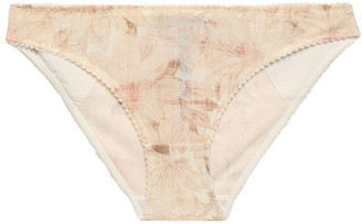 Stella McCartney Juliet Skipping Floral-print Tulle Mid-rise Briefs